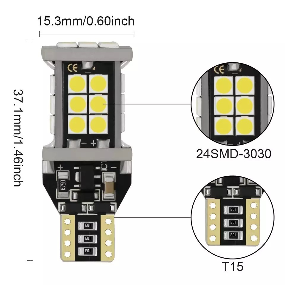 Bec led T15 w16w can-bus